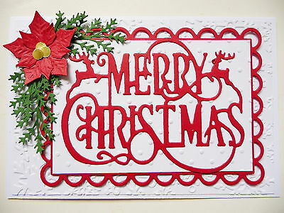 Handmade Card, Merry Christmas Reindeer  Stampin Up Red
