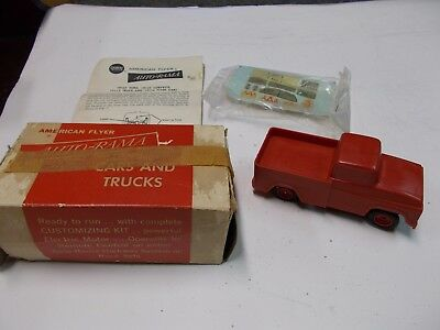 Vintage American Flyer Auto Rama Red Pickup Truck OB