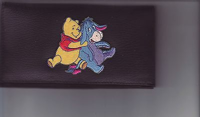 Eeyore And Pooh Leather Checkbook Cover Great Gift  #  1