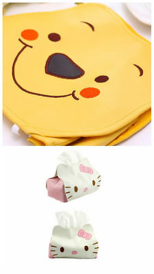 Kitty Winnie Home Car Rectangle PU Leather Tissue Box Cover Napkin Holder Case