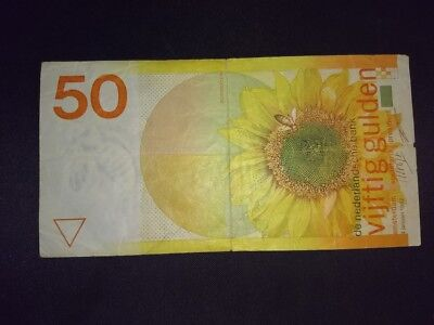 Dutch Netherlands 50 Gulden Note Banknote Paper Currency