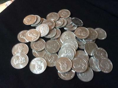 Shell Oil company Famous Americans Coin Tokens 50 pc- as they came