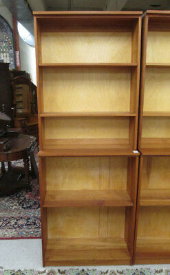 CUSTOM CRAFTED TWO-SECTION CHERRY BOOKCASE, The Jo Lot 77