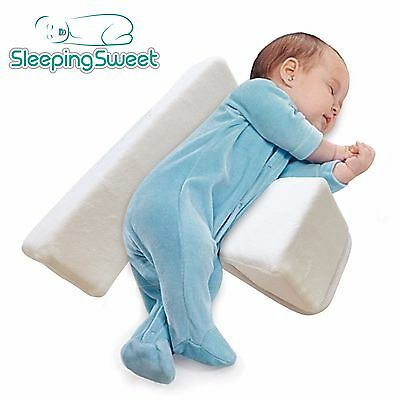 Infant Sleep Positioner, Baby Pillow Wedge, Adjustable, Anti-Roll, Newborns, 0-6