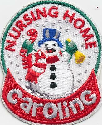 Girl Boy Cub NURSING HOME CAROLING Patches Crests Badges SCOUTS GUIDES Christmas