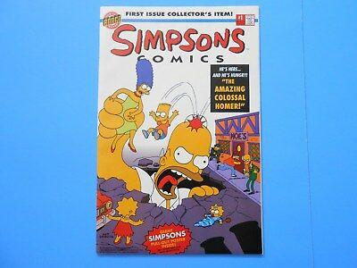 1993 BONGO COMICS THE SIMPONS #1 UNREAD with POSTER
