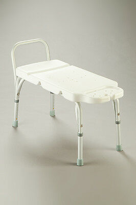 CQ Transfer Bench Adjustable Height Aluminium Frame Plastic Moulded Seating Area