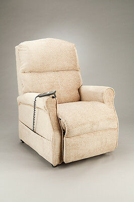 Cq Monarch Chair Power Lift & Recline Armchair Padded Synchronised Legrest  Maga