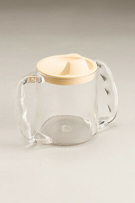 Cq Clear Plastic Caring Mug Microwave Safe Removable Lid With Spout Two Large Co