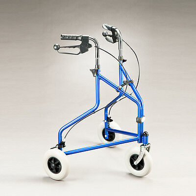 Cq Tri Wheel Walker Folding Frame  Height Adjustable Handles Large Solid 200Mm C