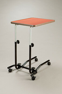 CQ Handi Table Lightweight Overchair Overbed Mobile Table Swivel Castors