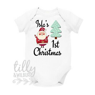 Personalised My 1st Christmas Baby Bodysuit Newborn First Xmas Gift Xmas Baby