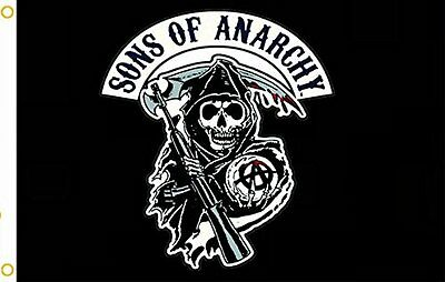 Sons Of Anarchy Black Flying Flag 3ft x 5ft banner