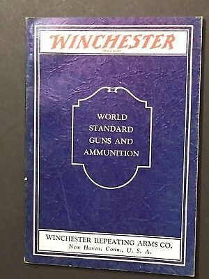 A WINCHESTER Repeating Arms Firearms Catalog Gun Rifle 1933 Ammunition