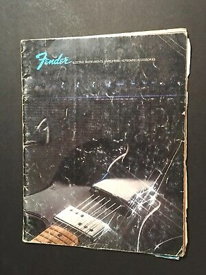 A FENDER Guitar Electric Instruements CATALOG 1973 Amplifiers Stratocaster
