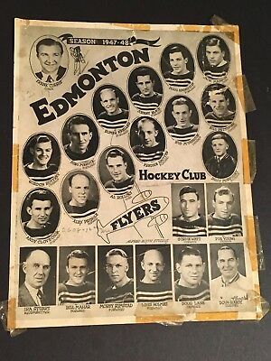 A Vintage EDMONTON FLYERS Hockey Allan Cup Winners PHOTO Picture 1947-48