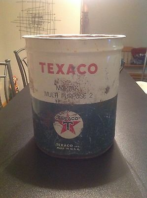 Old Metal bucket Texaco 5 Gallon