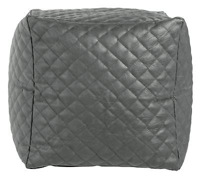 HOME Quilted Cube Beanbag - Grey
