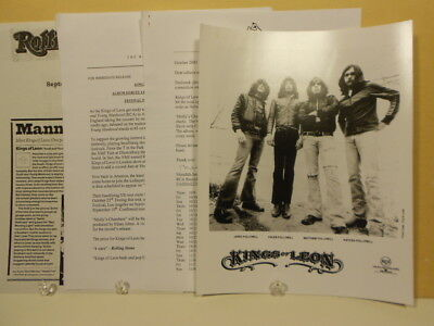 Kings of Leon - Youth and Young Manhood ORIGINAL PRESS KIT with PHOTO 2003