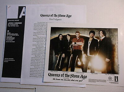 """Queens of the Stone Age """"Era Vulgaris"""" ORIGINAL PRESS KIT with COLOR PHOTO 2007"""