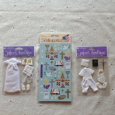Jolee's boutique ornate stickers-Christian Girl & Boy & Stickopotamus stickers.