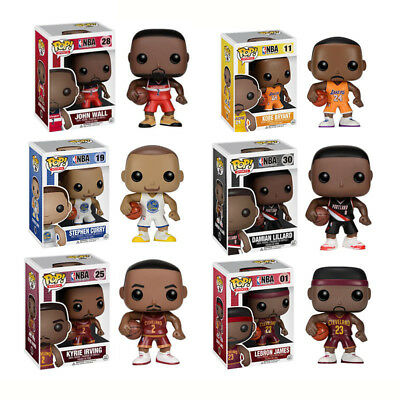 Fashion FUNKO POP Basketball NBA World Star PVC Action Figure Model Toy Hot CA