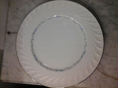 Celebrity Fine China Dinner Plate Pattern -Evening Tide White & Blue