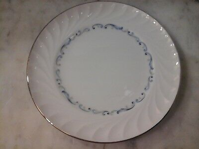 Evening Tide White-Blue Swirls Fine China Dessert/Salad Plate Pattern Celebrity