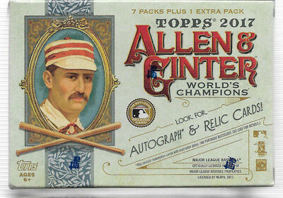 1 box lot 2017 Topps Allen & Ginter Baseball Factory Sealed Blaster Box 8 Packs