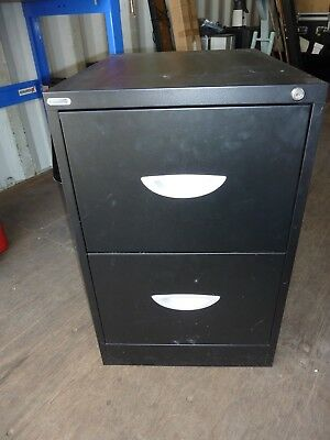 **shipping Container Clearout** - 'endurance' 2 Drawer Black Filing Cabinet
