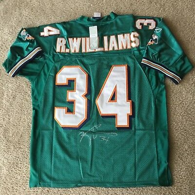 Ricky Williams Authentic Signed Autographed Dolphins Nfl Football Jersey Coa