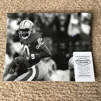 49ERS JERRY RICE AUTHENTIC SIGNED AUTOGRAPHED 8x10 NFL FOOTBALL PHOTO RICE COA