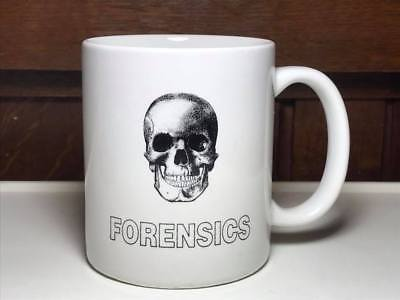 City Morgue Forensics skull coffee mug