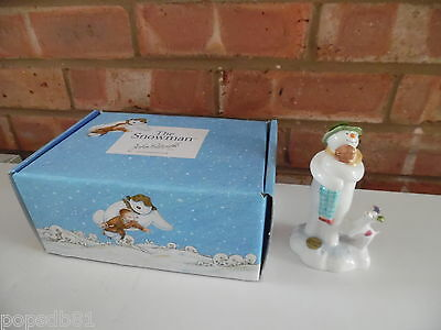 John Beswick Raymond Briggs The Snowman, Dog Hugging Billy Statue JBS12 - New