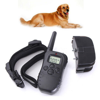 NEW LCD Electric Remote Control Pet Dog Shock Training 300M 100LV AU