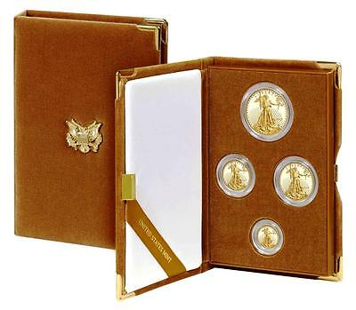 NEW THIS MONTH. ! 2017-W FN Gold Proof Am Eagle 4-Cn Set(17EF)w/1-1/2-1/4-1/10oz