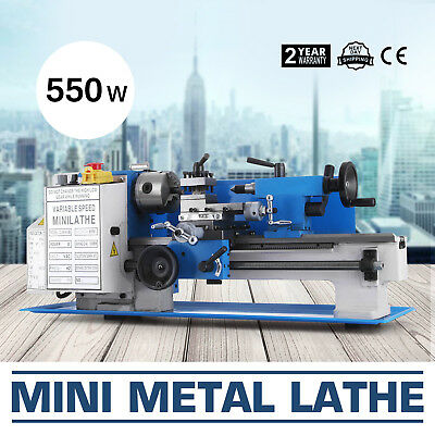 "7""x12"" Mini Metal Lathe Metalworking Woodworking High Precision 550W Milling"