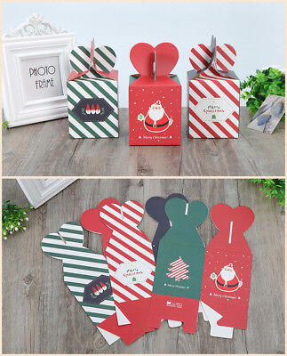 Cute Christmas Eve Apple Packing Gift Box Xmas Tree Favours Present Paper Boxes