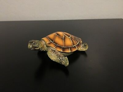 Smooth Sea Turtle Figurine Statue - Made of Resin (About 4.5 inches)