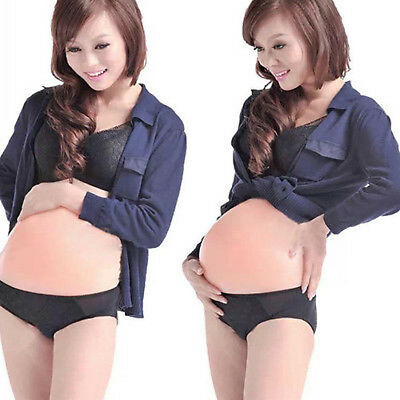 Artificial Fake Belly Tv Props Silicone Pregnancy Pregnant Tummy Bump Lifelike