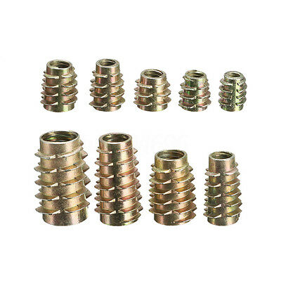 M4 M5 M6 M8 M10 Type E Hex Drive Screw In Threaded Insert Bushings For Wood AU