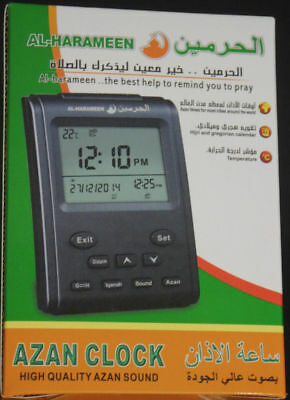 Digital Azan Clock Islamic Muslim Prayer Alarm Hijri Calender Adhan Al Fajr Time