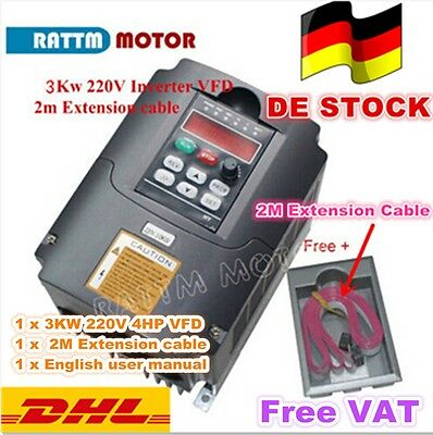 【EU&DE】3KW 220V VFD 4HP Frequenzumrichter Variable Frequency Driver Inverter 3PH