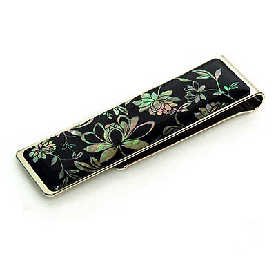 money clip, paper clip mother of pearl gift, bookmark, peony