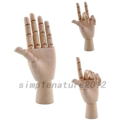 Wooden Hand Wood Sculpture Mannequin Model Manikin Articulated Figures Movable