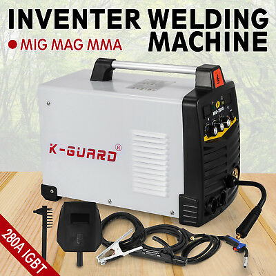 MIG MAG MMA Inverter Weldeing Machine 280 Amp Solid Compact Reliable BRAND NEW
