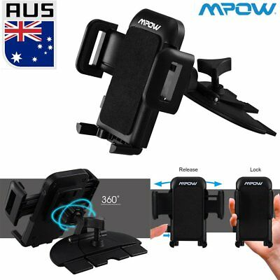 Mpow Universal 360°CD Auto Slot Car Mount Holder For iPhone 7 8 Mobile Phone GPS