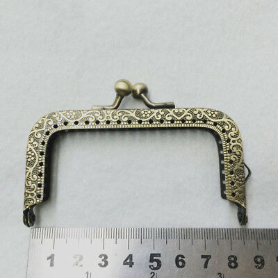 Popular Metal Frame Kiss Clasp Lock Arch For Purse Bag Bronze Tone 8.5CM/3.34''