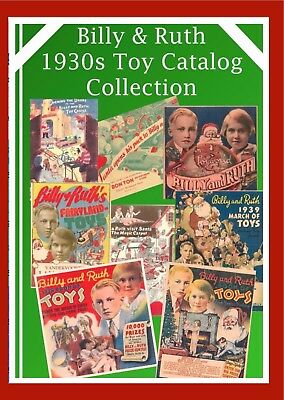 Vintage 1930s Lot BILLY and RUTH CHRISTMAS TOY CATALOGS Trains Dolls Guns on CD