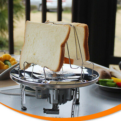 Unusual Solid 4 Slices Bar BBQ Camping Toast Rack Bread Toast Stand Kitchen Tool